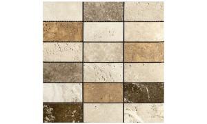 Classico Giallo Noce honed mosaics