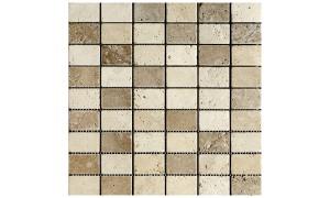 Classico Noce Mixed tumbled mosaics