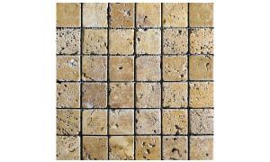 Galatia Giallo tumbled mosaics