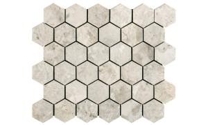 silver Light hexagon mosaics