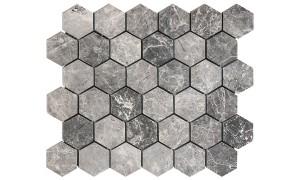 silver moon hexagon mosaic