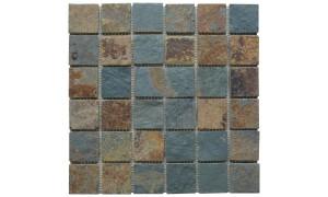 Multicolour square mosaics