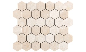 crema marfil Hexagon