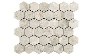silver Light hexagon mosaics