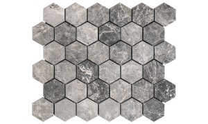 silver moon hexagon mosaic